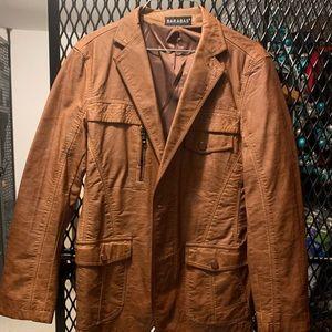 Other - Vintage tan leather jacket